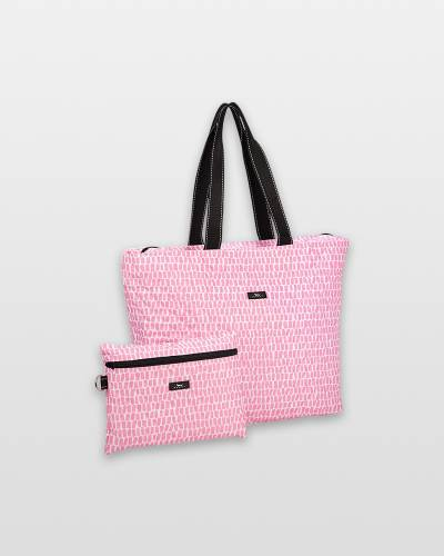 Plus 1 Foldable Tote and Pouch Duo in Queen of the Tile