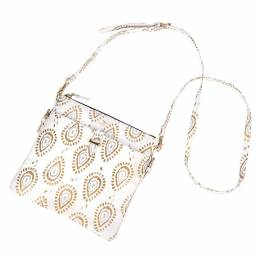 Scout Taylor Crossbody Bag in Shrimp and Glitz