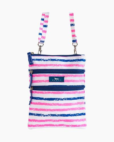 Sally Go Lightly Crossbody Bag in Pink and Navy Stripe