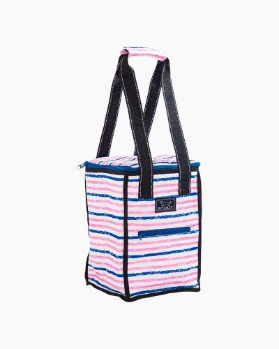 Pleasure Chest Picnic Cooler in Pink and Navy Stripe