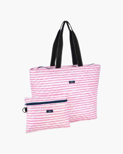 Plus 1 Foldable Tote and Pouch Duo in Pillow Chalk