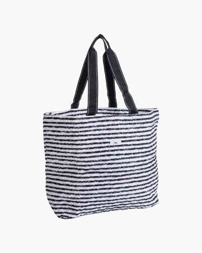 Plus 1 Foldable Tote and Pouch Duo in Chalk Back