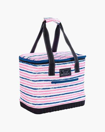 The Stiff One Cooler in Pink and Navy Stripe
