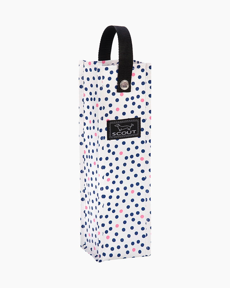 Spirit Liftah Wine Tote in Guys and Dots
