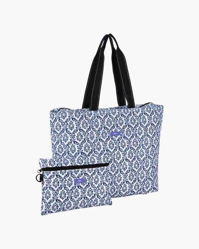 Plus 1 Foldable Tote and Pouch Duo in The Blue Hour