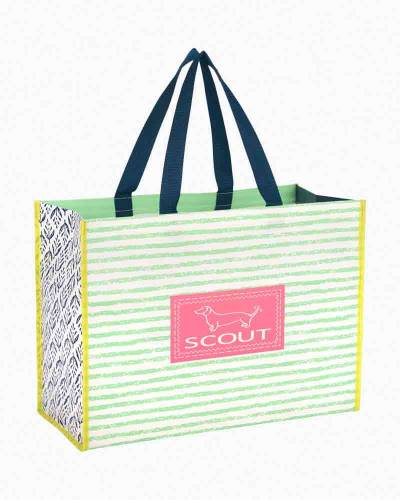 Small Green Stripes Shopper Bag