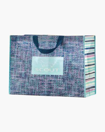 Small Navy Tweed Shopper Bag