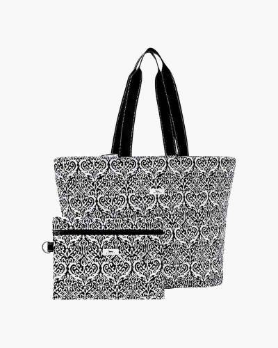 Plus 1 Foldable Tote and Pouch Duo in Black Knight