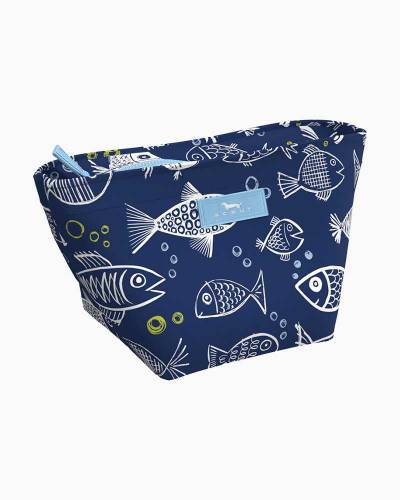 Crown Jewels Cosmetic Bag in One Fish Blue Fish