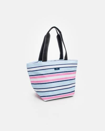 Exclusive Daytripper Tote in Pink and Blue Lines