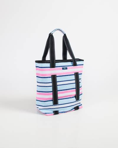 Exclusive Fit Kit Gym Bag in Pink and Blue Lines