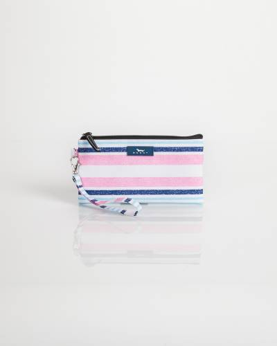 Kate Wristlet in Pink and Blue Stripe