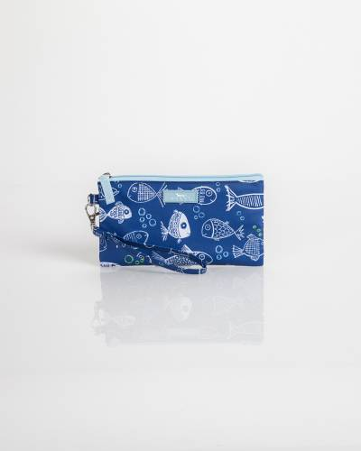 Kate Wristlet in One Fish Blue Fish