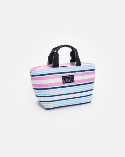 Exclusive Nooner Lunch Cooler in Pink and Blue Lines