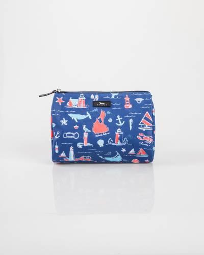 Exclusive Packin' Heat Cosmetic Bag in NE Nautical