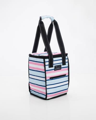Exclusive Pleasure Chest Picnic Cooler in Pink and Blue Lines