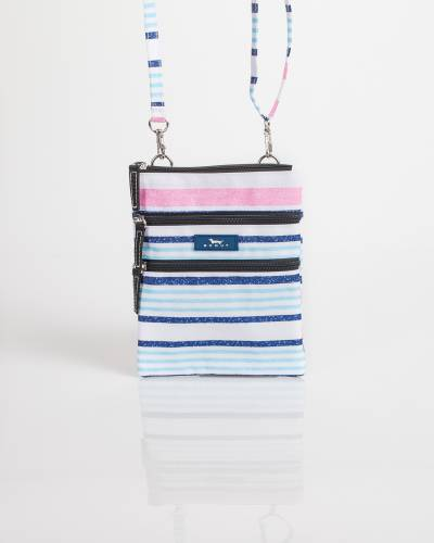 Exclusive Sally Go Lightly Crossbody Bag in Pink and Blue Lines