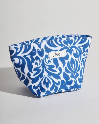 Exclusive Crown Jewels Cosmetic Bag in Navy Medallion