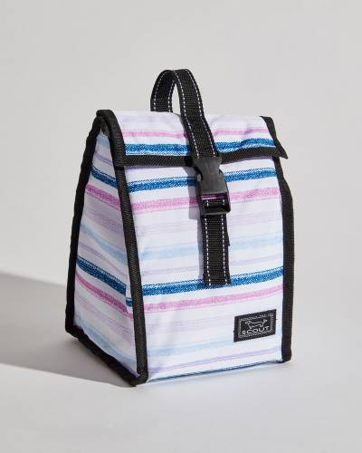Exclusive Doggie Bag in Purple, Pink, and Navy Lines