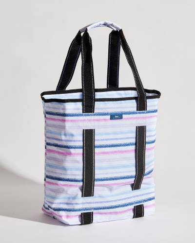 Exclusive Fit Kit Gym Bag in Purple, Pink, and Navy Lines