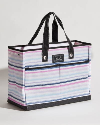 Exclusive BJ Bag in Purple, Pink, and Navy Lines