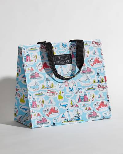 Exclusive Thermal and Louise Insulated Market Tote in New England Pattern
