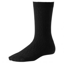 SmartWool Black Cable Socks - Medium