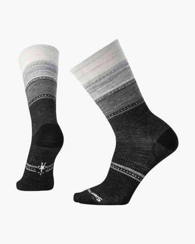 Women's Sulawesi Stripe Socks in Charcoal Heather (Medium)