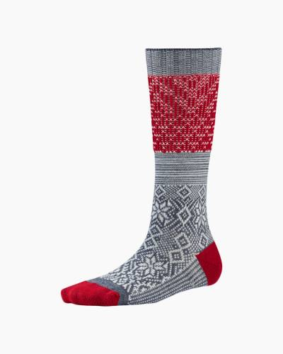 Women's Gray Heather Flurry Snowflake Socks