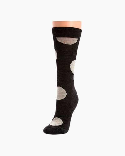 Women's Charcoal Heather Polk-A-Dot Crew Socks