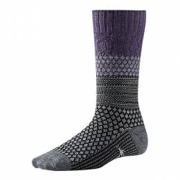 SmartWool Women's Purple Popcorn Cable Socks