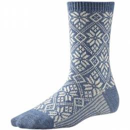 SmartWool Women's Blue Traditional Snowflake Socks