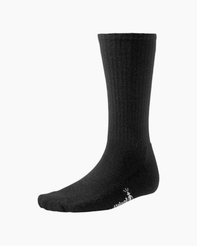 Men's Heathered Rib Socks in Black (Medium)