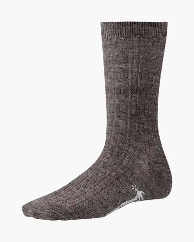 Women's Taupe Cable II Socks (Medium)