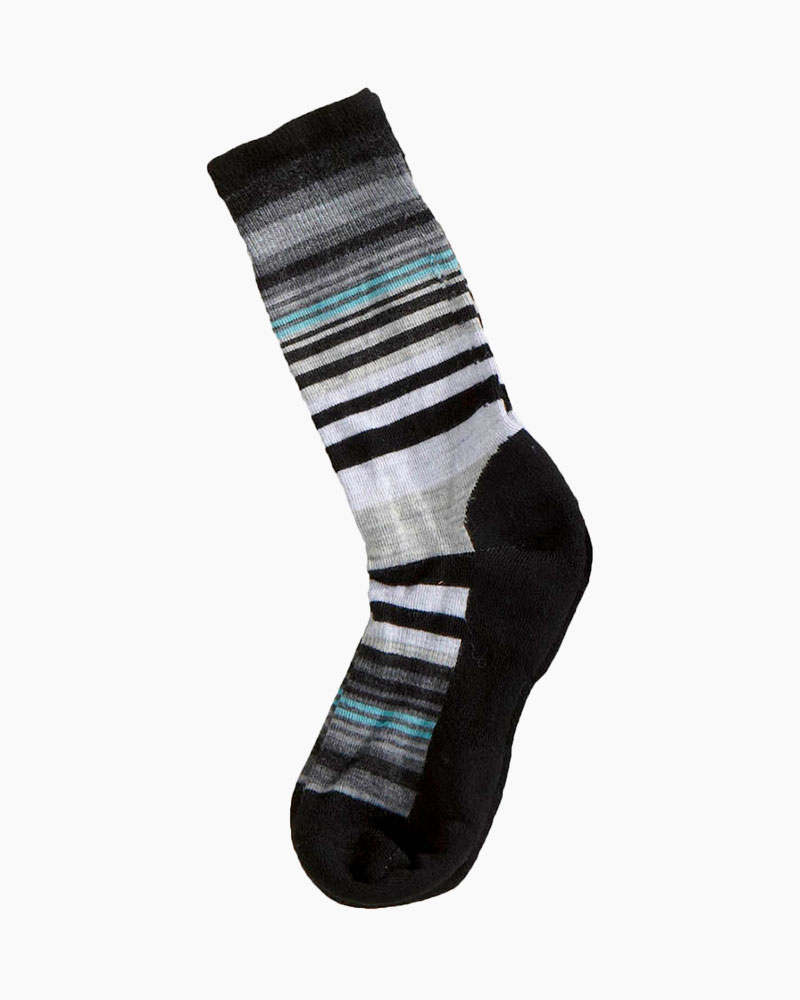 SmartWool Women's Jovian Stripe Socks in Black (Medium)