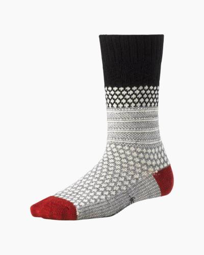 Women's Popcorn Cable Socks in Black (Medium)