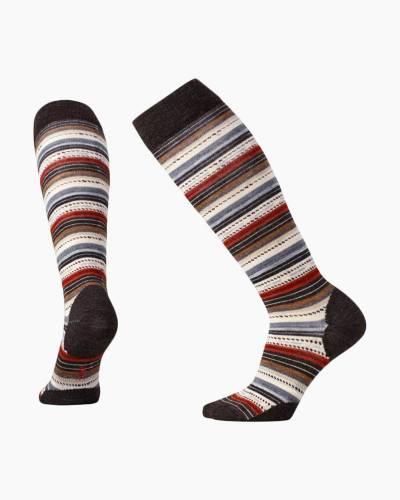 Women's Margarita Knee High Socks in Chestnut (Large)