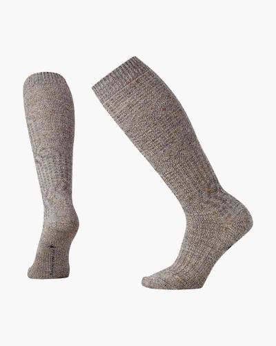 Women's Wheat Fields Knee High Socks in Grey Heather (Large)