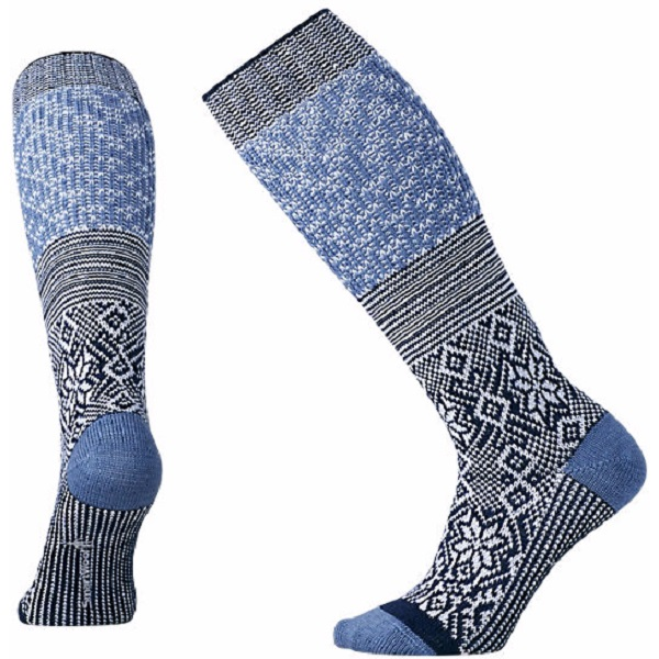 SmartWool Women's Snowflake Flurry Socks in Blue Steel Heather (Large)