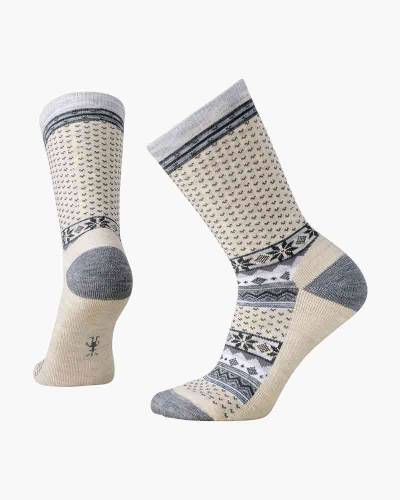 Women's Cozy Cabin Crew Socks in Natural (Medium)