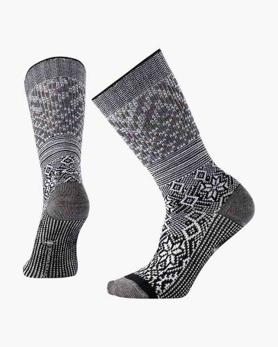 Women's Snowflake Flurry Socks in Black (Medium)