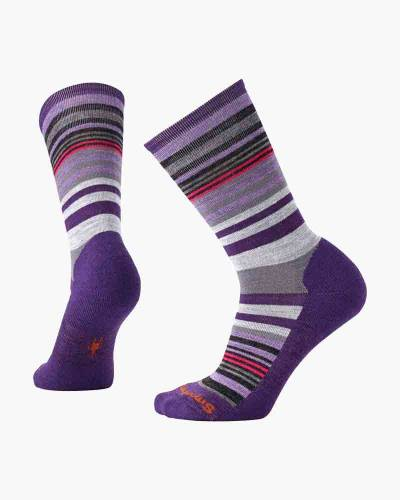 Women's Jovian Stripe Socks in Purple Heather (Medium)