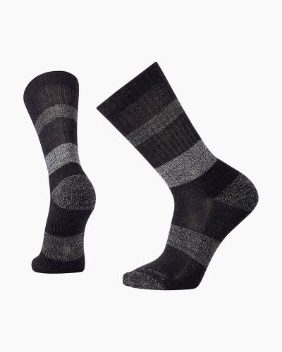 Men's Barnsley Crew Socks in Black Heather (Large)