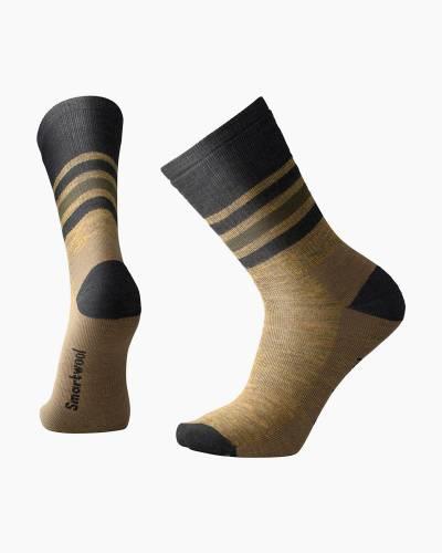 Men's Striped Hike Medium Crew Socks in Desert Sand