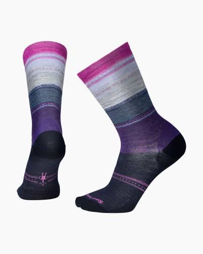 Women's Sulawesi Stripe Socks in Deep Navy Heather (Medium)