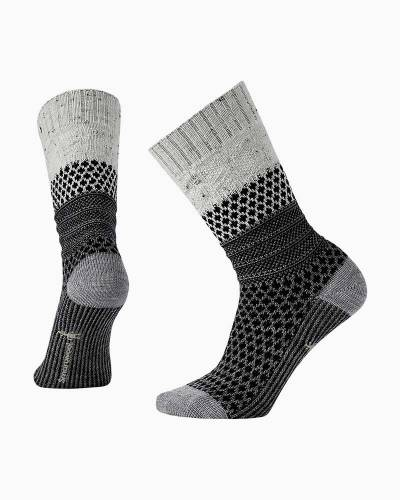 Women's Popcorn Cable Socks in Winter White Donegal