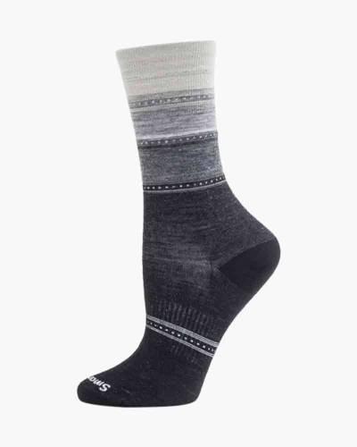 Women's Sulawesi Stripe Socks in Mediterranean Green Heather (Medium)
