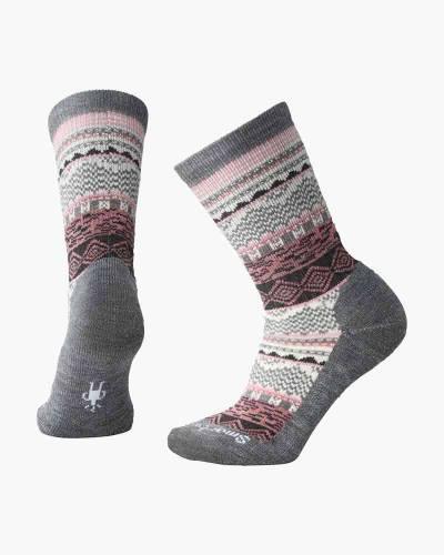 Women's Dazzling Wonderland Crew Socks in Grey Heather