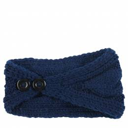 The Paper Store Knit Headband in Navy Blue