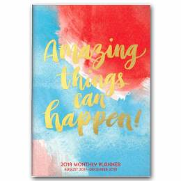 Orange Circle Studio Amazing Things Can Happen 2018 Monthly Pocket Planner